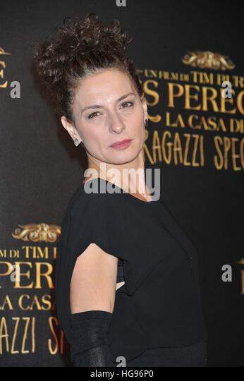 Lidia Vitale attending the Rome premiere of 'Miss Peregrine's Home for Peculiar Children' at the Conciliazione - Stock Image
