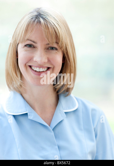 Nurse smiling - Stock Image