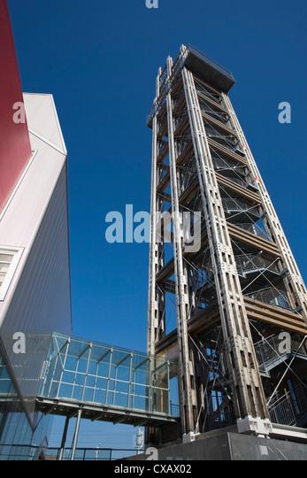 The Bahnorama Tower, Vienna, Austria, Europe - Stock Image