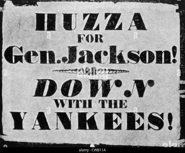 Andrew Jackson presidential campaign poster, 1828 - Stock Image