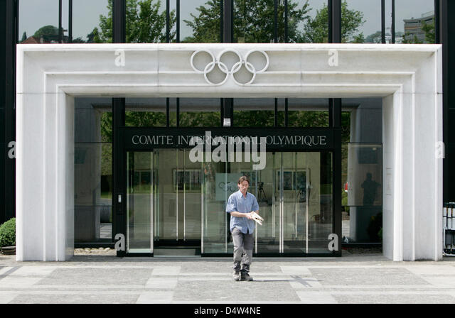 The entrance of the IOC (International Olympic Committee) headquarters in Lausanne, Schweiz, 09 May 2008. Photo: - Stock Image