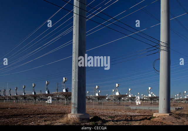 Closed Solar Electric Plant - Stock Image