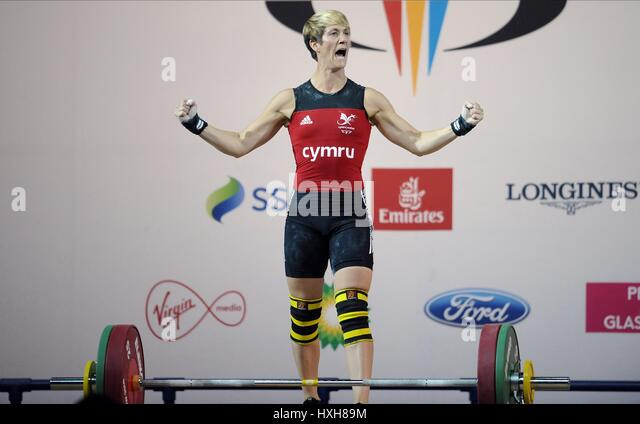 MICHAELA BREEZE WOMEN'S WEIGHTLIFTING WOMEN'S WEIGHTLIFTING CLYDE AUDITORIUM GLASGOW SCOTLAND 26 July 2014 - Stock Image