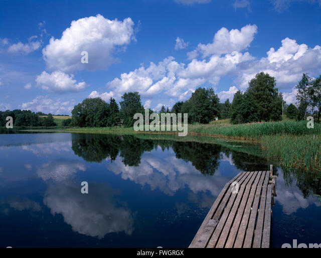 Lake Pühajärv near Otepää, Estonia, Europe - Stock-Bilder