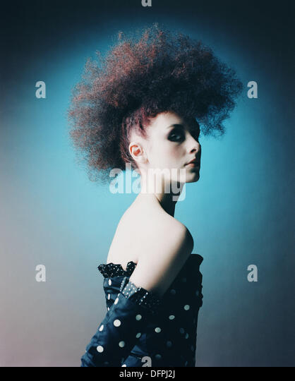 Fashion image of young woman - Stock Image
