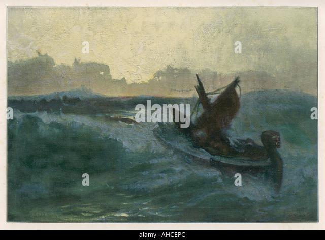 End Of Atlantis - Stock Image