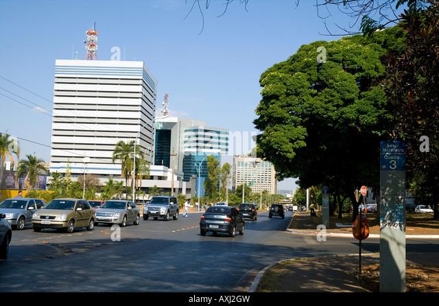 North Autarchy and Hotels Sector  (Setor de Autarquias Norte Setor Hoteleiro Asa Norte) Brasilia Brazil - Stock Image