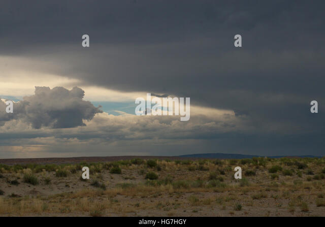 Fantasy Canyon Utah desert rain and storm clouds - Stock Image