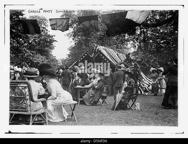 Garden Party, Governor's Island (LOC) - Stock Image