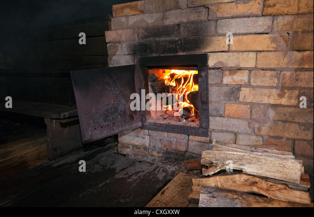 Open Wood Stove Stock Photos Open Wood Stove Stock