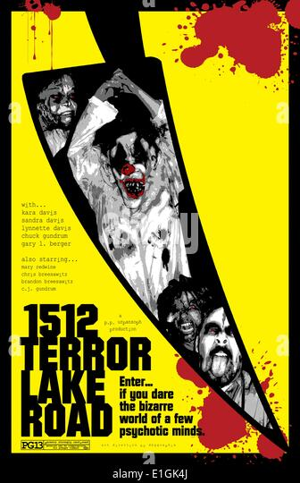 '1512 Terror Lake Road' a spooky home haunt movie for all haunted house fans since 2005. - Stock Image