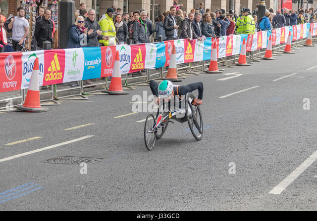 Susannah Scaroni at the London Marathon 2017 - Stock Image