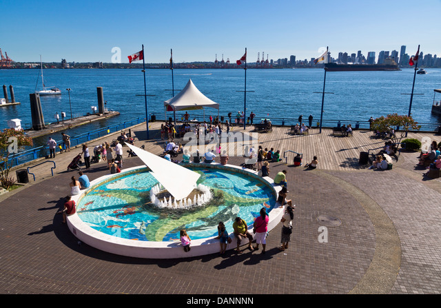 Lonsdale Quay waterfront, North Vancouver, British Columbia, Canada. - Stock Image