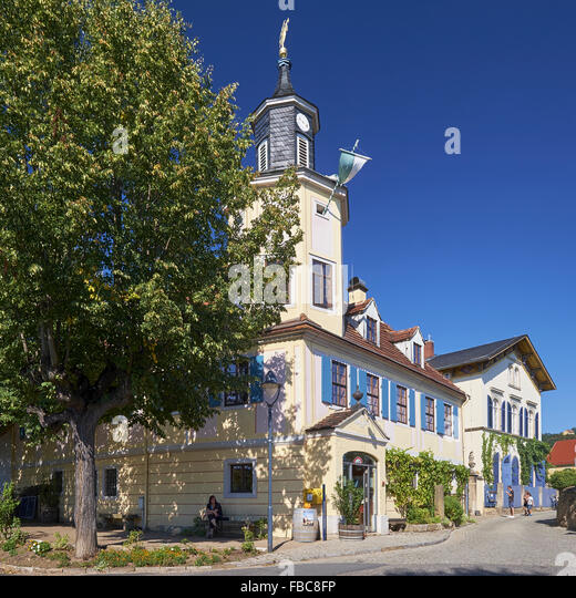 Meinhold tower house, Radebeul, Germany - Stock Image