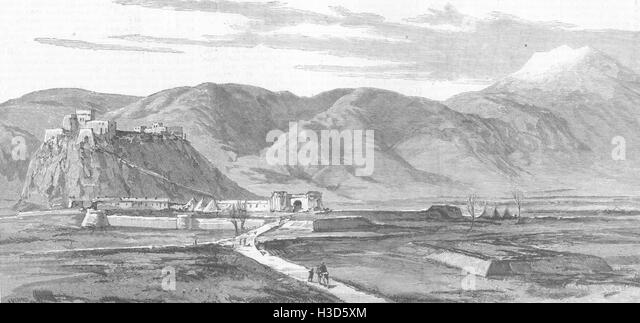 QUETTA N-W Frontier India Advanced British Military Stn Afghanistan 1885. The Illustrated London News - Stock Image