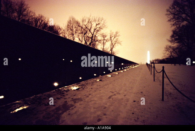 Vietnam Veterans Memorial wall, Washington D.C. - Stock Image