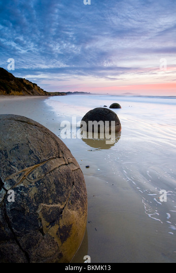 Moeraki Boulders South Island New Zealand - Stock Image