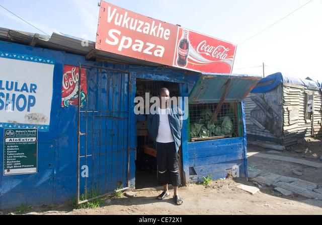 Cape Town:  Langa Township kiosk - Stock-Bilder