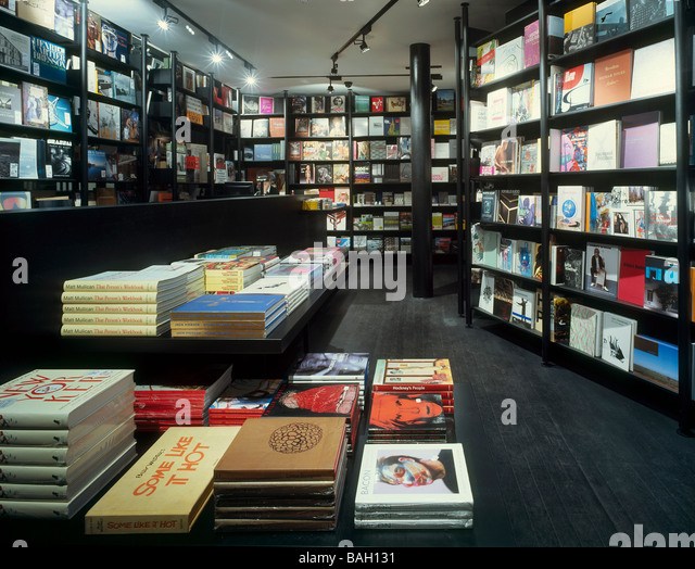 Koenig Book Shop, London, United Kingdom, David Chipperfield, Koenig book shop ground floor. - Stock Image