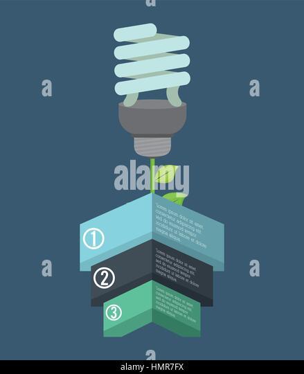eco bulb environmental care icon - Stock Image