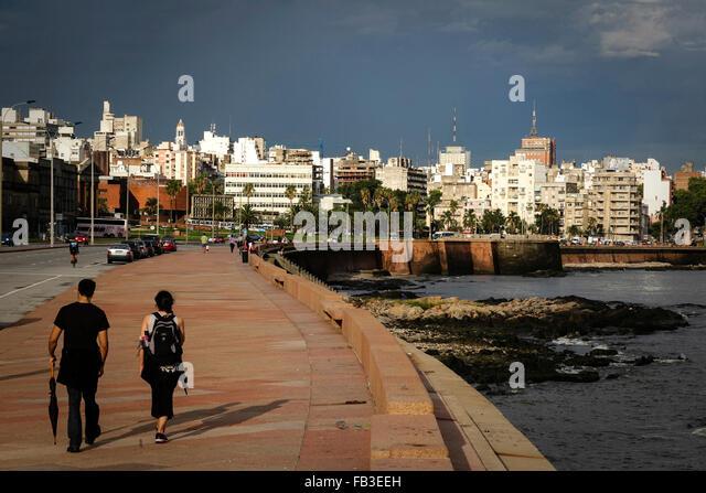 Rambla Sur, Montevideo, Uruguay - Stock Image