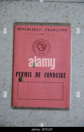 French driving licence  front cover - Stock Image