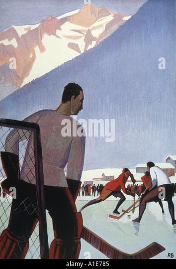 Ice Hockey Agenda Plm - Stock Image