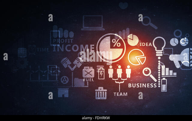 Digital background image with networking connection and strategy concept - Stock-Bilder