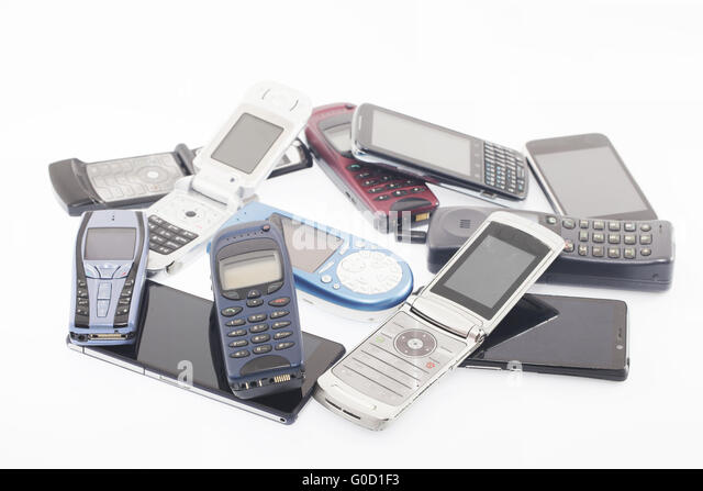 Old and new Mobile phones, smartphone - Stock Image
