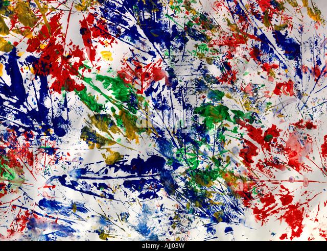 Colour Leaf Prints On White Background - Stock-Bilder