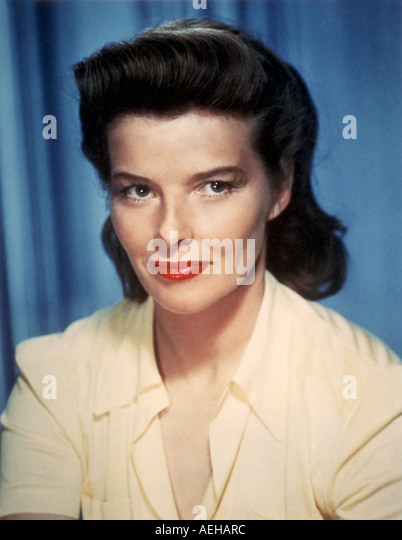 KATHARINE HEPBURN  (1907-2003) US film actress in the 1950s - Stock Image