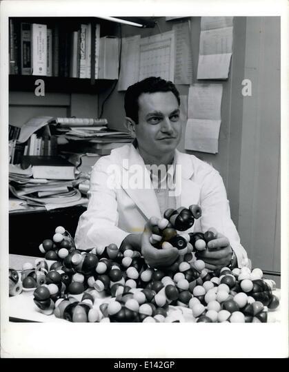 Mar. 31, 2012 - 1968 Nobel Prize for Psychology & Medicine winner,. Dr. Marshall W. Nirenberg, Chief of the - Stock Image