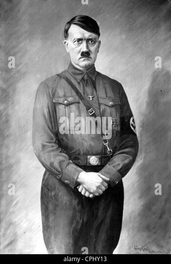 Painting of Adolf Hitler - Stock-Bilder