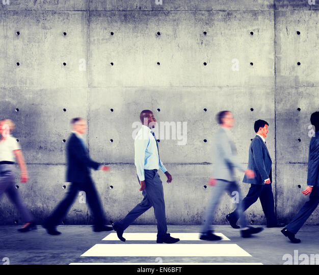 Commuter Business People Walking Office Building Organization Concept - Stock Image