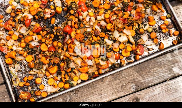 roasted veggies - Stock Image