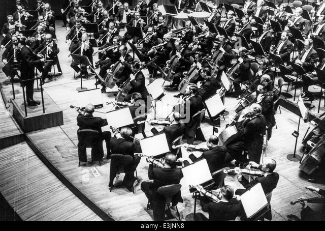 leonard bernstein,vienna philharmonic,new york ensemble's pension fund concert,1967 - Stock Image