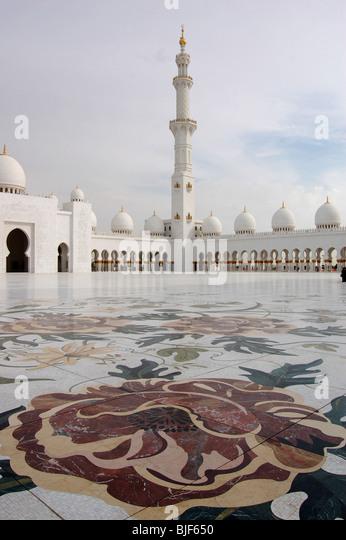 Sheikh Zayed Bin Sultan Al Nahyan Mosque, Abu Dhabi, United Arab Emirates - Stock Image