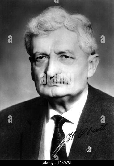 Hermann Oberth, German Physicist - Stock Image