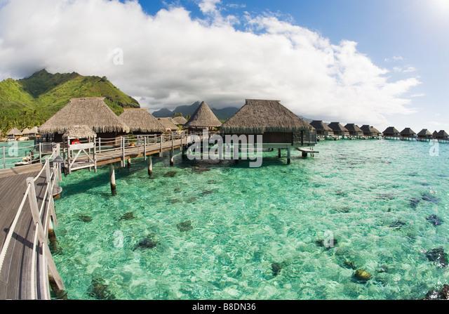 Holiday resort in moorea - Stock-Bilder