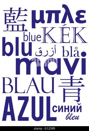 how to say blue in different languages