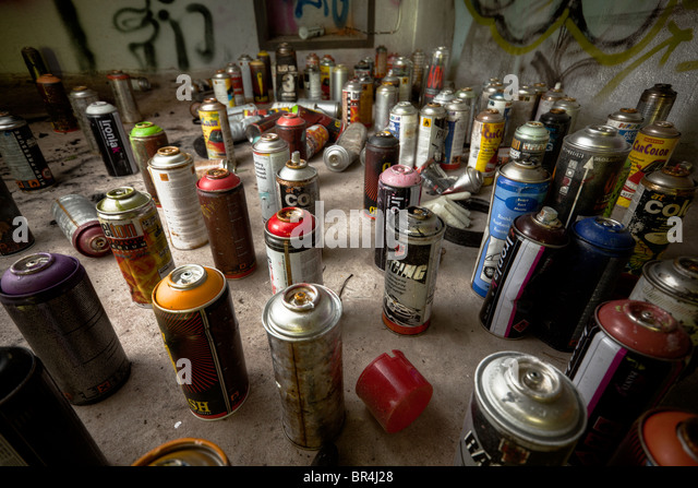 Spray cans - Stock Image