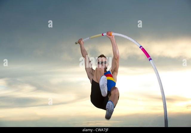 Pole vaulter - Stock Image