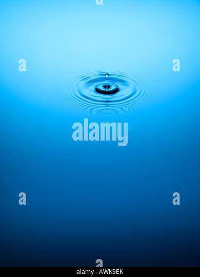 Serene water droplet - Stock Image