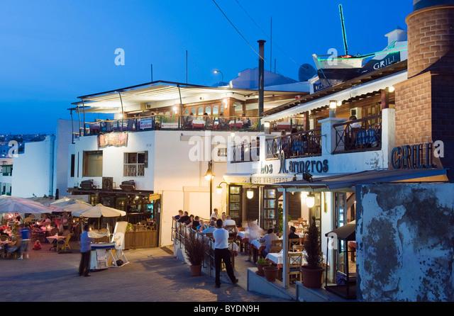 Lanzarote restaurants stock photos lanzarote restaurants stock images alamy - Port del carmen lanzarote ...