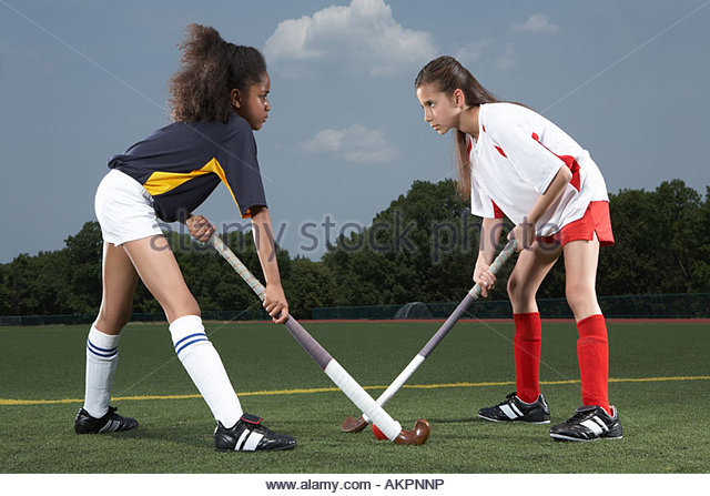 Rival hockey players - Stock Image