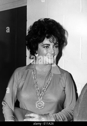 Actress Elizabeth Taylor at an event - Stock-Bilder