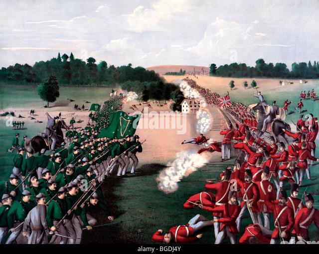 Battle of Ridgeway, June 2, 1866, near Ontario, Canada - Stock Image
