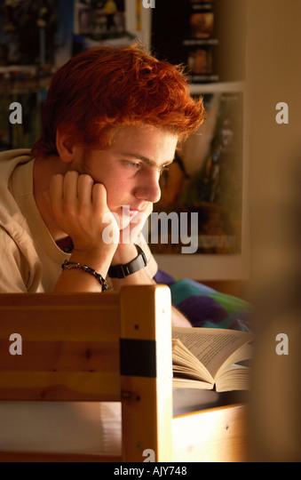 Teenage Boy Sulking Stock Photos Teenage Boy Sulking