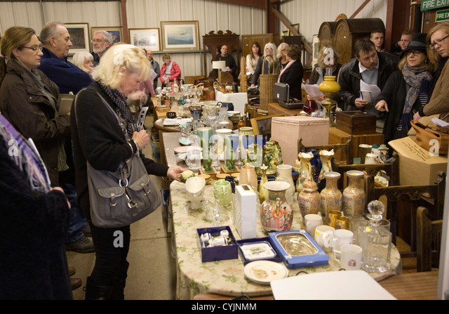Abbots auction rooms Campsea Ashe, Suffolk, England - Stock Image