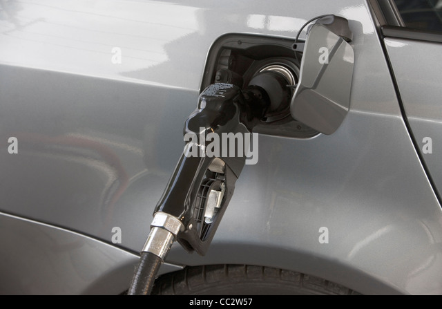 USA, New York, Long Island, East Hampton, Close-up of refueling pump - Stock Image